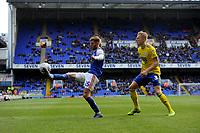 Ipswich Town's Teddy Bishop battles with Birmingham City's Kristian Pedersen<br /> <br /> Photographer Hannah Fountain/CameraSport<br /> <br /> The EFL Sky Bet Championship - Ipswich Town v Birmingham City - Saturday 13th April 2019 - Portman Road - Ipswich<br /> <br /> World Copyright © 2019 CameraSport. All rights reserved. 43 Linden Ave. Countesthorpe. Leicester. England. LE8 5PG - Tel: +44 (0) 116 277 4147 - admin@camerasport.com - www.camerasport.com