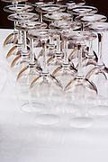 tasting glasses domaine montirius vacqueyras rhone france