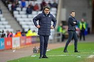 Luton Town interim manager, Mick Harford on the touchline during the EFL Sky Bet League 1 match between Sunderland AFC and Luton Town at the Stadium Of Light, Sunderland, England on 12 January 2019.