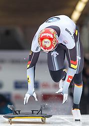 18.02.2016, Olympiaeisbahn Igls, Innsbruck, AUT, FIBT WM, Bob und Skeleton, Herren, Skeleton, 2. Lauf, im Bild Axel Jungk (GER) // Axel Jungk of Germany competes during men's Skeleton 2nd run of FIBT Bobsleigh and Skeleton World Championships at the Olympiaeisbahn Igls in Innsbruck, Austria on 2016/02/18. EXPA Pictures © 2016, PhotoCredit: EXPA/ Johann Groder
