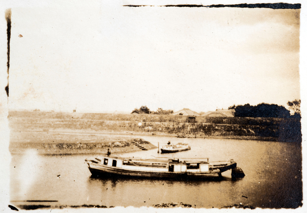 boats on the river Japan ca 1930s