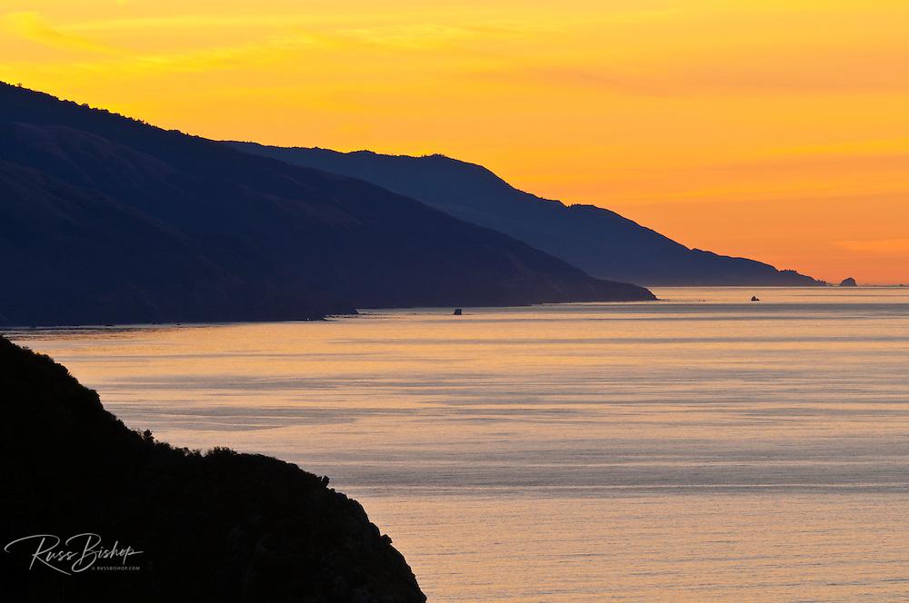 Morning light on the Big Sur coast, California USA