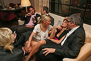 DAVID DE ROTHSCHILD, DAVID WALLIAMS, MARTHA WARD, JEMIMA KHAN AND JAY JOPLING. Fashion Fringe 2008 - launch dinner hosted by Elizabeth Saltzman for Donatella Versace. Claridge's Hotel, Brook Street, Mayfair, London. 11 March 2008.  *** Local Caption *** -DO NOT ARCHIVE-© Copyright Photograph by Dafydd Jones. 248 Clapham Rd. London SW9 0PZ. Tel 0207 820 0771. www.dafjones.com.