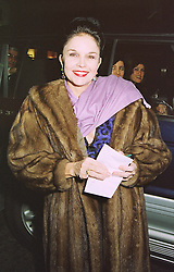 Actress VIVIENNE VENTURA, at an exhibition in London on 16th February 1999.MOJ 59