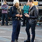 NLD/Amsterdam/20100430 - Radio 538 Koniginnedag Concert 2010, Alain Clarke in gesprek met Tiesto