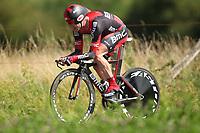 CYCLING - TOUR DE FRANCE 2012 - STAGE 9 - Individual Time Trial - Arc-et-Senans > Besançon (38 km) - 09/07/2012 - PHOTO MANUEL BLONDEAU / DPPI - BMC RACING TEAM TEAMRIDER CADEL EVANS OF AUSTRALIA