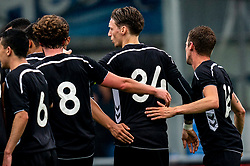 Ricardo Bakker of VV Maarssen celebrate. First friendly match after the Corona outbreak. VV Maarssen lost the away match against big league Spakenburg 5-1 on 4 July 2020 in Spakenburg.