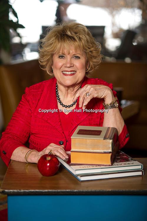Brenda Gullett poses for a photo in her home on Monday, February 3, 2014, in Fayetteville, Arkansas.