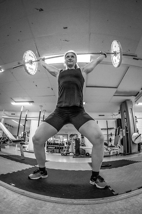 Värmland, SVERIGE - 6 AUGUSTI 2019: Mona Brorsson under ett gympass på träningslägret i Torsby. (Foto: Per Danielsson/ Projekt.P )