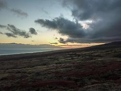 Dawn Looking Out At Maui