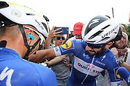 Joy arrival, Fernando Gaviria (COL - QuickStep - Floors) during the Tour de France 2018, Stage 4, Team Time Trial, La Baule - Sarzeau (195 km) on July 10th, 2018 - Photo Ilario Biondi / BettiniPhoto / ProSportsImages / DPPI