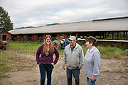 Doug and Pat Fuller and their daugther Olivia on the family farm in Fort Ann, NY.
