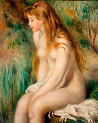 Pierre-Auguste Renior, French 1841-1919.  Young girl bathing 1892.