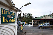 A view of the side of the Kilmore Bakery looking towards the CBA bank on the main street during COVID-19 in Kilmore, Australia. An outbreak which started in Chadstone in Melbourne, has spread as far as Benalla. Twenty-eight people linked to the outbreak have now tested positive for COVID-19. There are now two confirmed cases in Kilmore linked with a Melbourne Resident who carried the virus into the town. The person visited the Odd Fellows Cafe in Kilmore which lead to him spreading the virus to a staff member, and a customer. The cafe has been closed for deep cleaning and will remain closed until the 19th October. (Photo by Dave Hewison/Speed Media)