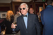 GEOFFREY WHEATCROFT, David Campbell Publisher of Everyman's Library and Champagen Bollinger celebrate the completion of the Everyman Wodehouse in 99 volumes and the 2015 Bollinger Everyman Wodehouse prize shortlist. The Archive Room, The Goring Hotel. London. 20 April 2015.