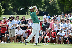 August 10, 2018 - Town And Country, Missouri, U.S - HIDEKI MATSUYAMA from Japan tees off from hole number three during round two of the 100th PGA Championship on Friday, August 10, 2018, held at Bellerive Country Club in Town and Country, MO (Photo credit Richard Ulreich / ZUMA Press) (Credit Image: © Richard Ulreich via ZUMA Wire)