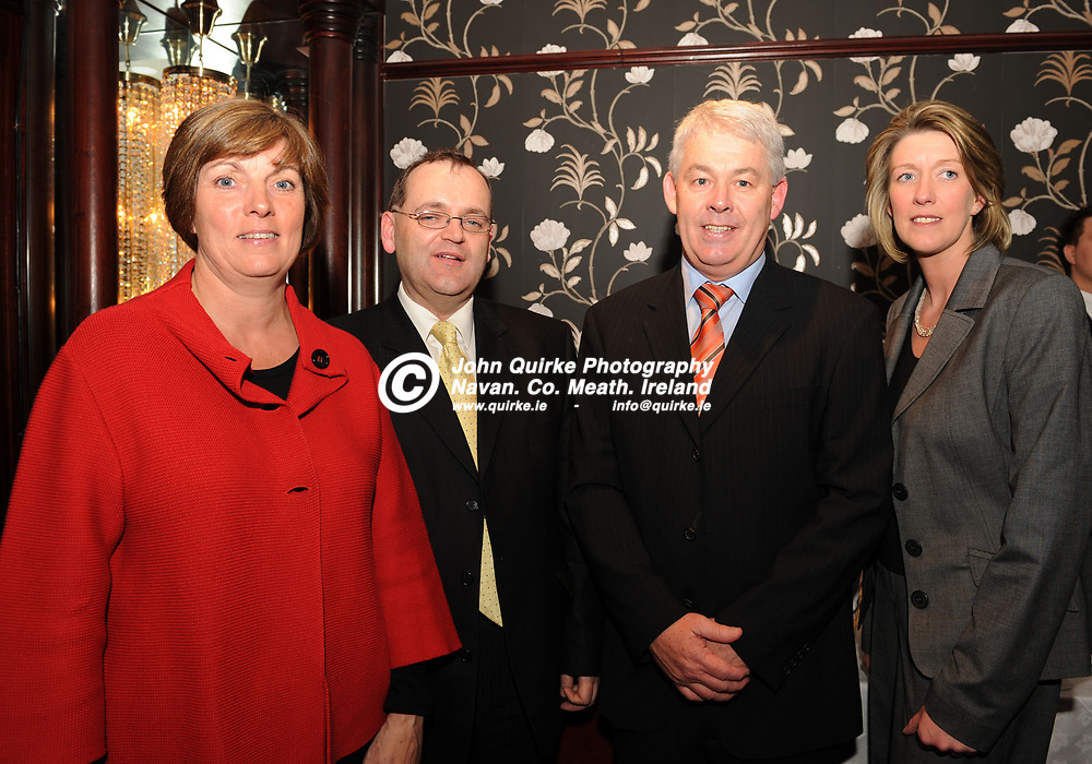 06-05-09. Meath Chronicle/Cusack Hotels Sports Personality of the Year Monthly awards presentations at the Knightsbrook Hotel, Trim.<br /> L to R: Paula Carr, Michael Power, Ardboyne Hotel. Paddy Carr and Mary Murphy, Newgrange Hotel.<br /> Photo: John Quirke / www.quirke.ie<br /> ©John Quirke Photography, Unit 17, Blackcastle Shopping Cte.<br /> Navan. Co. Meath. 046-9079044 / 087-2579454.