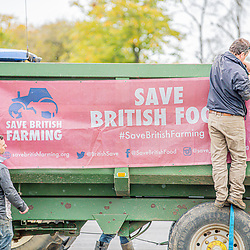Agricultural Bill, Farmers unite in the county ground as MP's head in talks to debate and vote on the agriculture bill Swindon Wiltshire UK 09/10/202