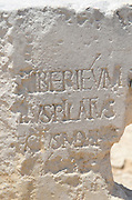Israel, Caesarea Maritima, a town built by Herod the Great about 25 - 13 BC, lies on the sea-coast of Israel Remains of a dedicatory inscription mentioning Pontius Pilatus