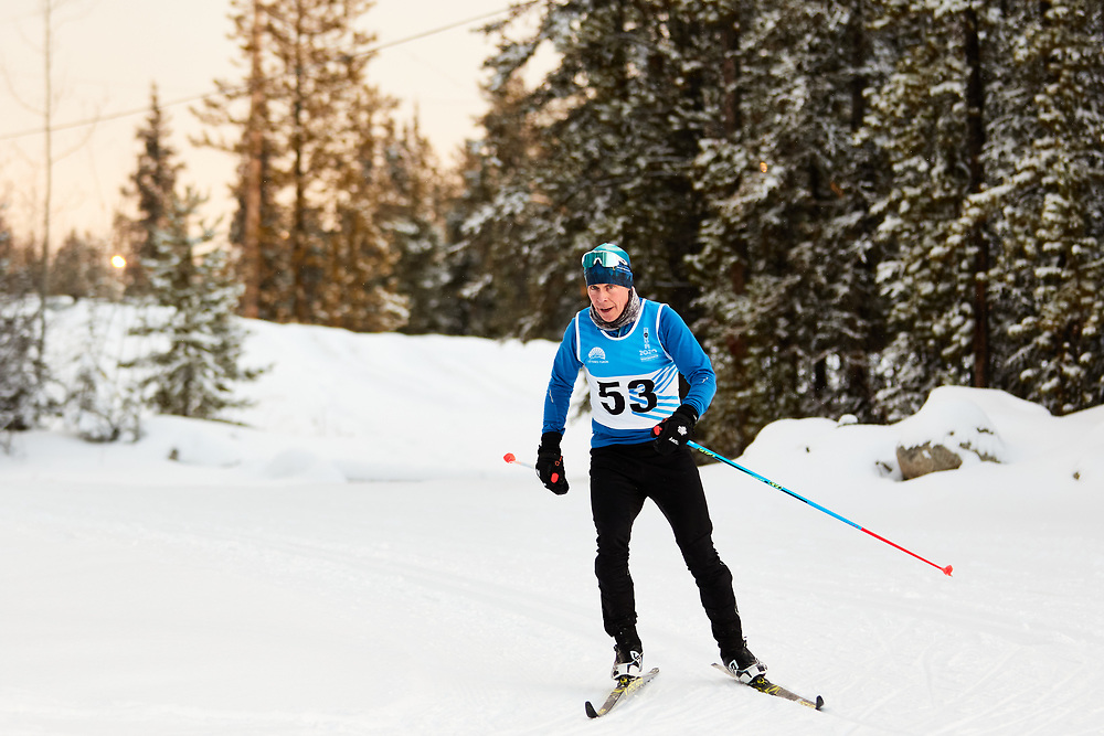Jean-Paul Molgat (Masters Men) skis during the 2020 Don Sumanik Ski Race (classic style) at the Mount McIntyre Recreation Centre, December 6, 2020.