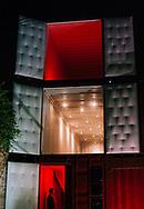 Pop-up restaurant built with shipping containers. São Paulo, Brazil. ©CiroCoelho.com. #saopaulo #brasil #night #streetphotography, #travel #travelphotography #architecture #city #architecturephotography #theotherarchitecture