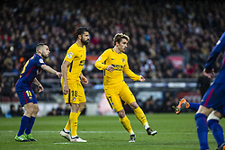 March 4, 2018 - Barcelona, Catalonia, Spain - 07 Griezman from France of Atletico de Madrid and 18 Costa from Spanish-Brazil of Atletico de Madrid during La Liga match between FC Barcelona v Atletico de Madrid at Camp Nou Stadium in Barcelona on 04 of March, 2018. (Credit Image: © Xavier Bonilla/NurPhoto via ZUMA Press)