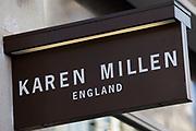 Sign for designer clothes shop Karen Millen.