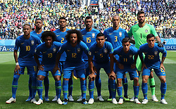 SAINT PETERSBURG, June 22, 2018  Players of Brazil pose for a group photo prior to the 2018 FIFA World Cup Group E match between Brazil and Costa Rica in Saint Petersburg, Russia, June 22, 2018. (Credit Image: © Cao Can/Xinhua via ZUMA Wire)