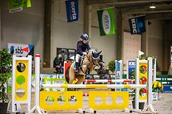 Franco Kjenta, BEL, Goya<br /> Nationaal Indoor Kampioenschap Pony's LRV <br /> Oud Heverlee 2019<br /> © Hippo Foto - Dirk Caremans<br /> 09/03/2019