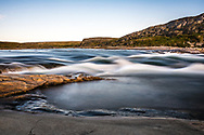 The river near Inukjuak. My camera shutter was set at a very slow speed.