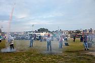 02 junio 2021. Tultepec, Estado de México. Quema de salva en una celebración en honor a San Juan de Dios.