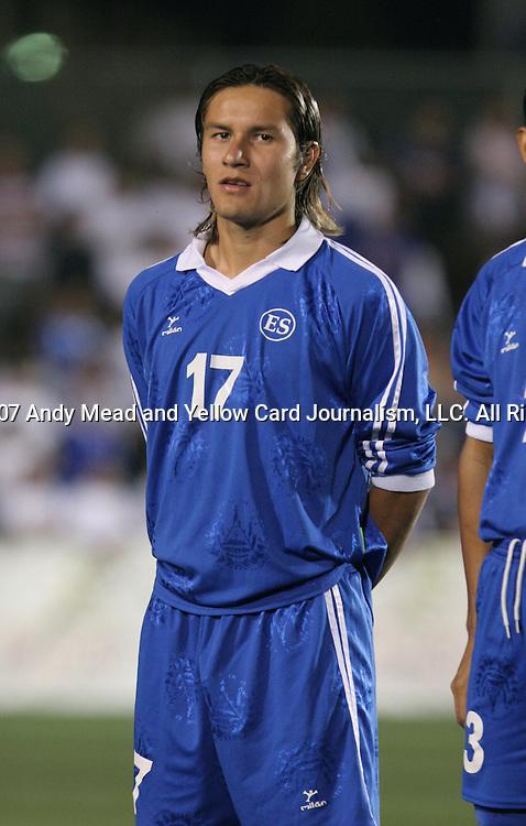 El Salvador's Dennis Alas on Tuesday, March 27th, 2007 at SAS Stadium in Cary, North Carolina. The Honduras Men's National Team defeated El Salvador 2-0 in a men's international friendly.