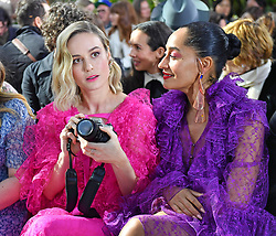 Celebrities attend the Rodarte fashion show at the Huntington in Pasadena Ca. Celebrities include Dakota Fanning, Tracee Elis Ross, Shailene Woodley, Rowan Blanchard, Bree Larson, Maddie Ziegler, Diane Keaton, John C Reiley and many more attended the event. 05 Feb 2019 Pictured: Dakota Fanning, Elijah Wood, Tracee Elis Ross, Shailene Woodley, Langley Fox, Rowan Blanchard, Bree Larson, Maddie Ziegler, Diane Keaton, John C Reiley, Mackeney Foy,. Photo credit: Snorlax / MEGA TheMegaAgency.com +1 888 505 6342