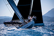 Evniki sailing in the  Corfu Challenge, day one.