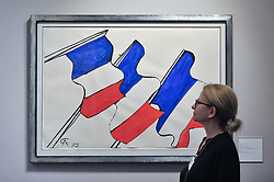 June 28, 2017 - London, UK - London, UK.  ''Untitled'', 1975, by Alexander Calder, gouache and ink representations of the French tricolor. Preview day at Masterpiece London, a leading art fair held in Chelsea, bringing together 150 international exhibitors presenting works from antiquity to the present day.  The event runs 29 June to 5 July 2017. (Credit Image: © Stephen Chung/London News Pictures via ZUMA Wire)