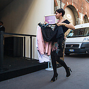 Settimana della moda a Milano settembre 2010. Preparativi per le sfilate <br /> <br /> Fashion week in Milan september 2010.<br /> The preparations for the fashion shows.