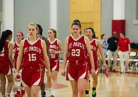 SPS girls basketball with Bradford.  ©2018 Karen Bobotas Photographer