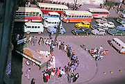People on street queuing for rice city centre of Sao Paulo, Brazil, South America 1962