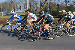 Tiffany Cromwell and Christine Majerus relaxed in the early kilometres - Drentse 8, a 140km road race starting and finishing in Dwingeloo, on March 13, 2016 in Drenthe, Netherlands.