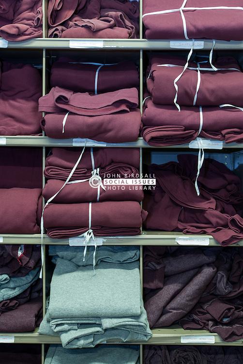 Prison clothing stores, UK prison