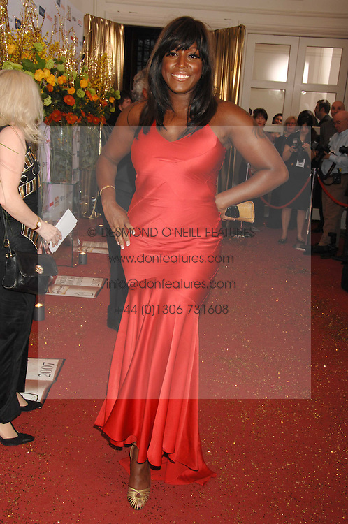 Singer MICA PARIS at the Galaxy British Book Awards 2007 - The Nibbies held at the Grosvenor house Hotel, Park Lane, London on 28th March 2007.<br /><br />NON EXCLUSIVE - WORLD RIGHTS