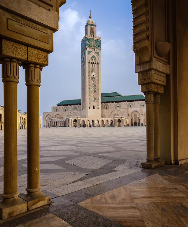 CASABLANCA, MOROCCO - CIRCA APRIL 2017: Mosque Hassan II in Casablanca.