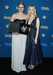 BEVERLY HILLS, LOS ANGELES, CA, USA - FEBRUARY 03: 70th Annual Directors Guild Of America Awards held at The Beverly Hilton Hotel on February 3, 2018 in Beverly Hills, Los Angeles, California, United States. 03 Feb 2018 Pictured: Greta Gerwig, Saoirse Ronan. Photo credit: IPA/MEGA TheMegaAgency.com +1 888 505 6342