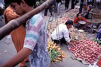 Nepal - Vallée de Kathmandu - Kathmandu - Marché sur Asan Tole