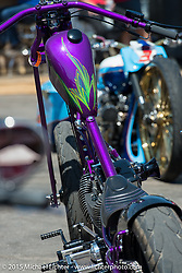 At the Easyriders Show at the Easyriders Saloon during the 75th Annual Sturgis Black Hills Motorcycle Rally.  SD, USA.  August 2, 2015.  Photography ©2015 Michael Lichter.