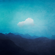 Mountains on a misty summer morning - textured and tinted photograph<br /> Redbubble primnts and more --> http://bit.ly/Cloud_Over_Blue_Mountains