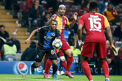 November 26, 2019, Galatasaray, Turkey: Club's Lois Openda and Galatasaray's Mario Rene Junior Lemina fight for the ball during a game between Turkish club Galatasaray and Belgian soccer team Club Brugge, Tuesday 26 November 2019 in Istanbul, Turkey, fifth match in Group A of the UEFA Champions League. (Credit Image: © Bruno Fahy/Belga via ZUMA Press)