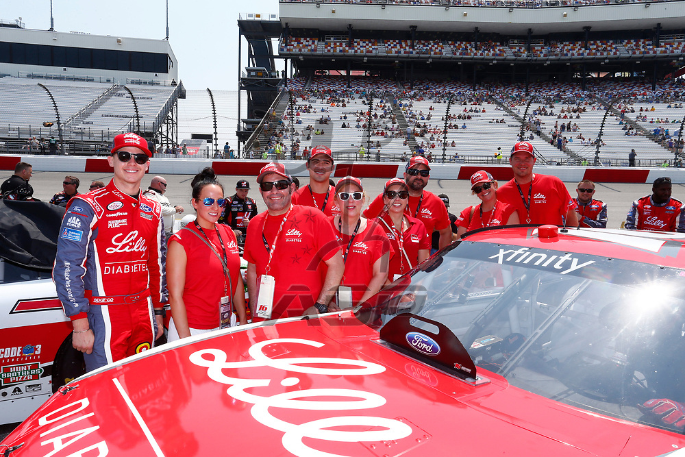 April 29, 2017 - Richmond, Virginia, USA: Ryan Reed (16) battles for position during the ToyotaCare 250 at Richmond International Speedway in Richmond, Virginia.