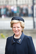 14.04.11. Copenhagen, Denmark.Queen Anne-Marie of Greece arrival to the Holmens Church to christening ceremony.Photo: Ricardo Ramirez