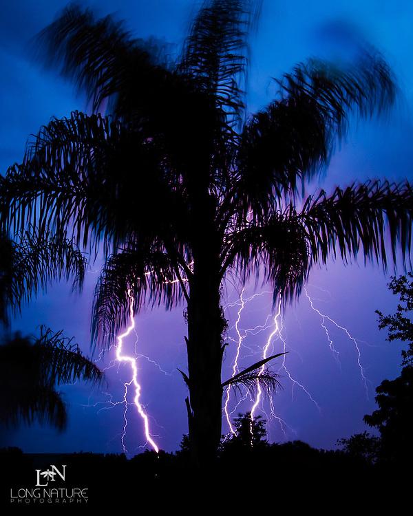 Florida lightning storm.